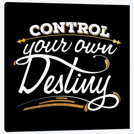 Control Your Destiny IV Canvas Print #BWQ23} by 5by5collective Canvas Wall Art