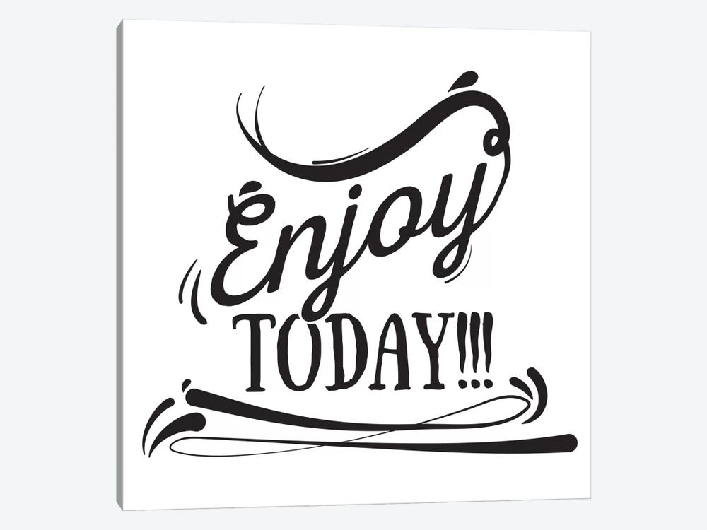 Enjoy Today I by 5by5collective 1-piece Canvas Wall Art