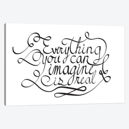 Everything You Can Imagine I Canvas Print #BWQ28} by 5by5collective Canvas Art