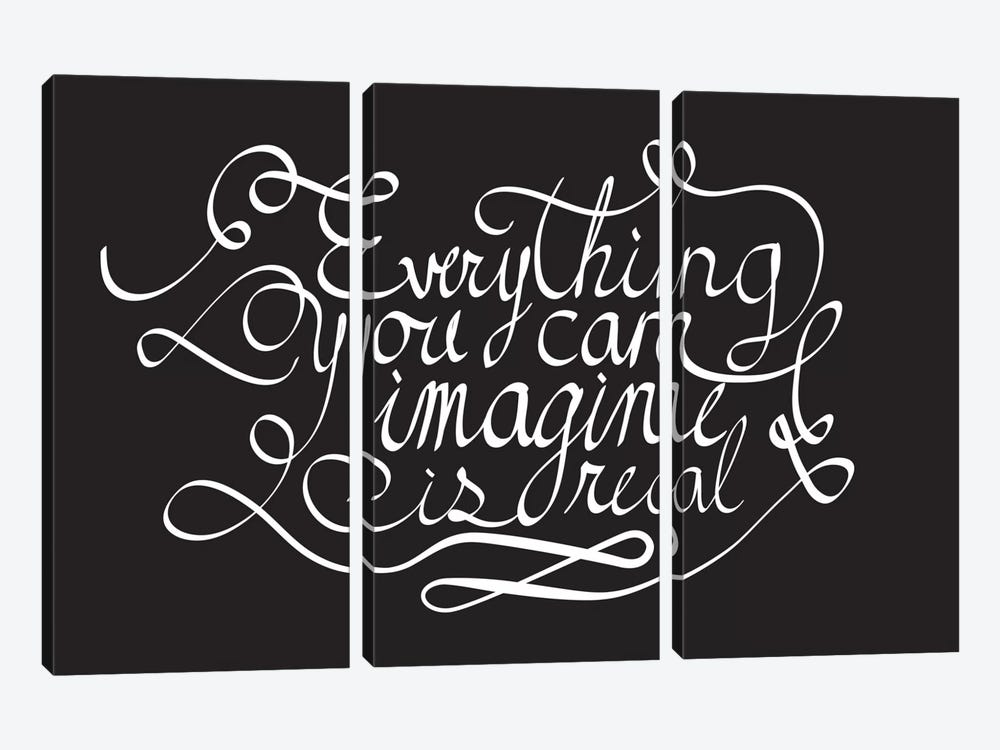 Everything You Can Imagine II by 5by5collective 3-piece Canvas Print