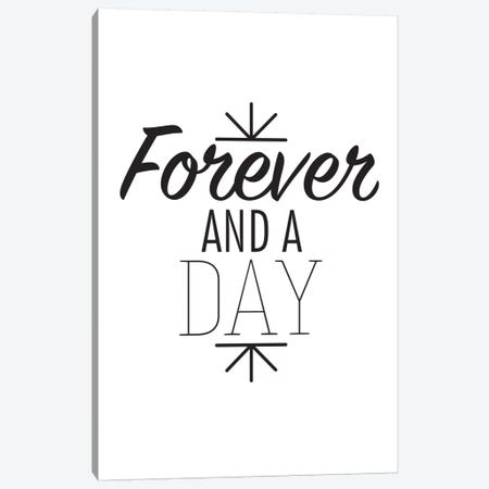 Forever And A Day I Canvas Print #BWQ32} by 5by5collective Canvas Print