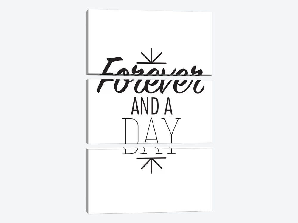 Forever And A Day I by 5by5collective 3-piece Canvas Art Print