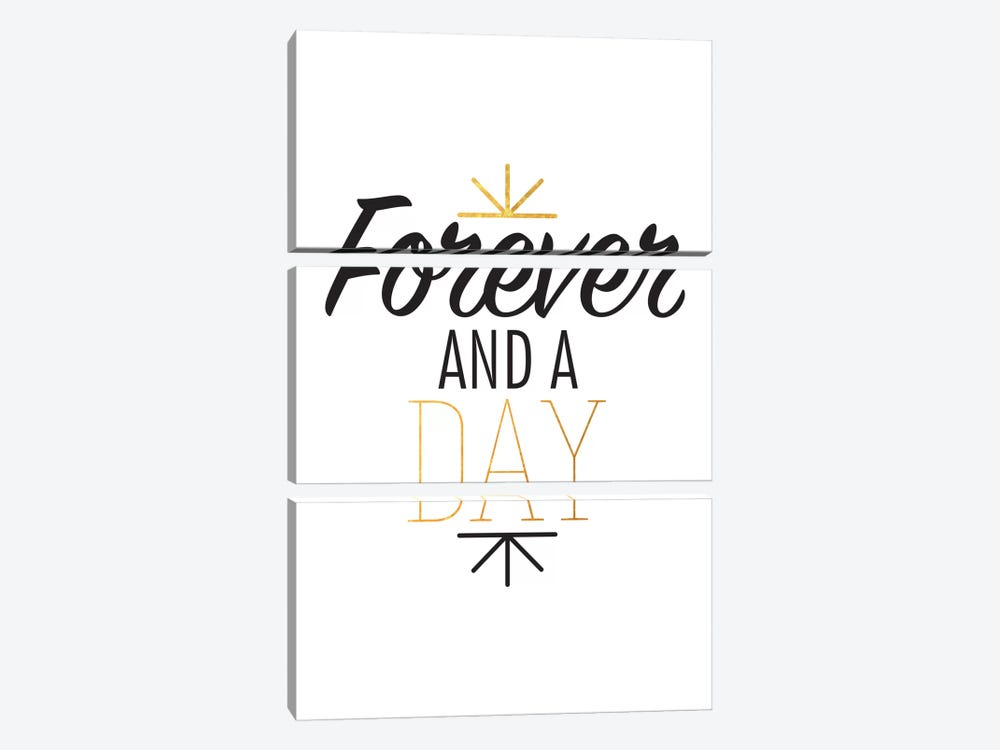 Forever And A Day III by 5by5collective 3-piece Canvas Print