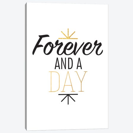 Forever And A Day III Canvas Print #BWQ34} by 5by5collective Canvas Art