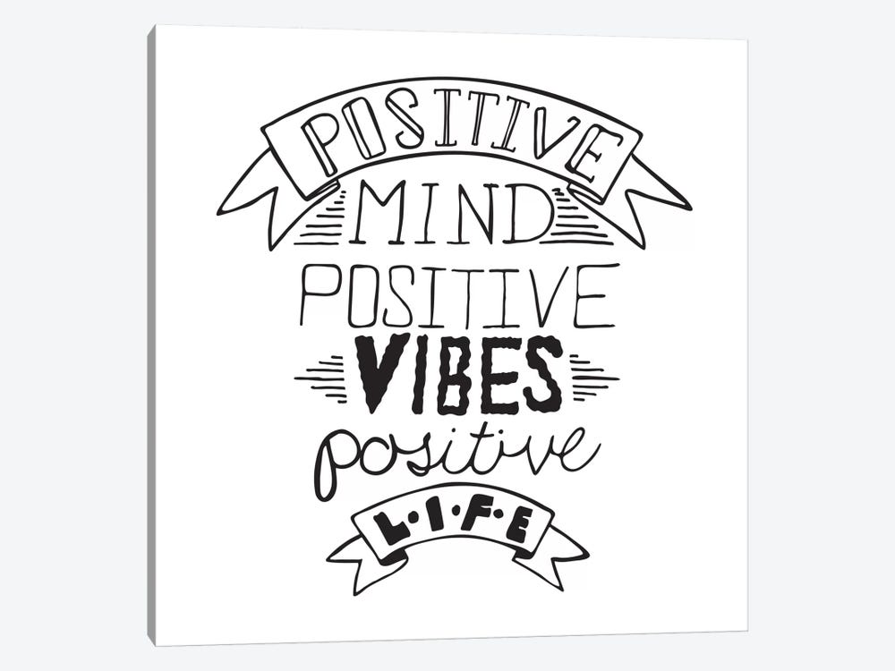 Positive Life I by 5by5collective 1-piece Canvas Print