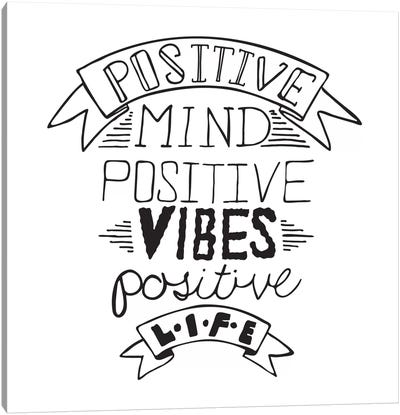 Positive Life I Canvas Art Print