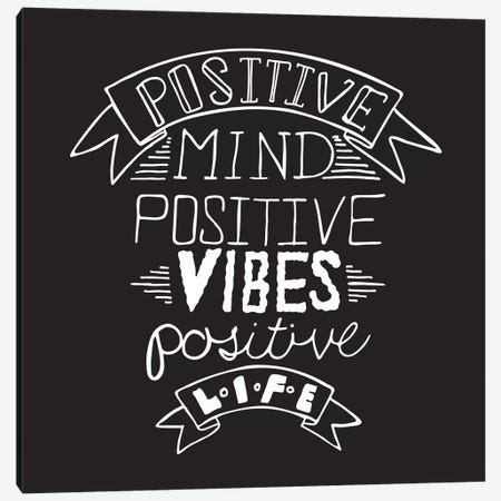 Positive Life II Canvas Print #BWQ37} by 5by5collective Canvas Art