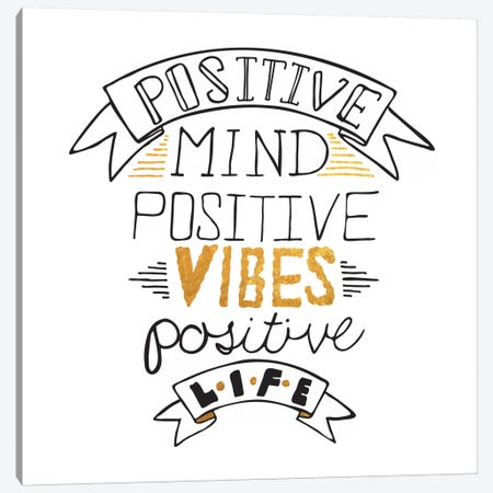 Positive Life III Canvas Print #BWQ38} by 5by5collective Canvas Art Print