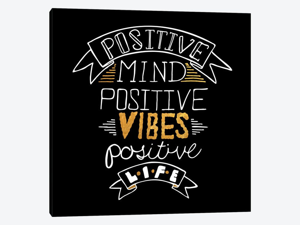 Positive Life IV by 5by5collective 1-piece Canvas Wall Art