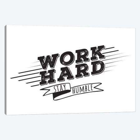 Work Hard I Canvas Print #BWQ44} by 5by5collective Canvas Art Print