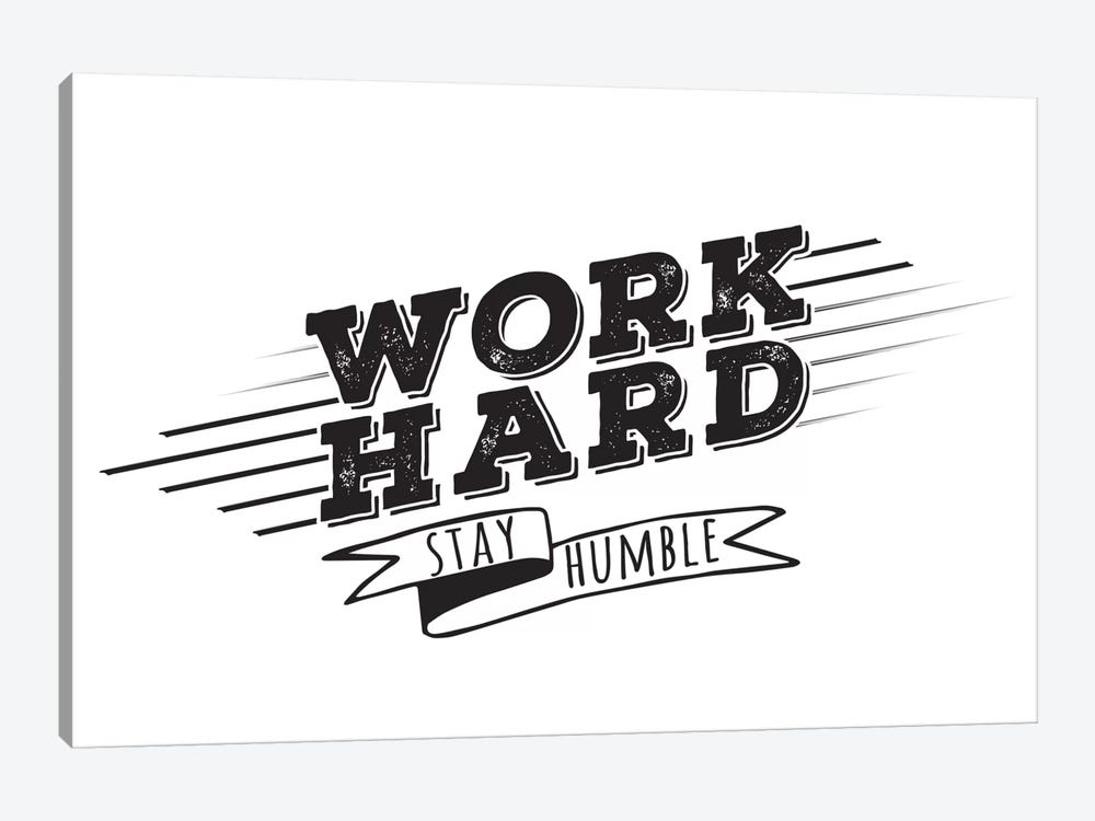 Work Hard I by 5by5collective 1-piece Canvas Wall Art