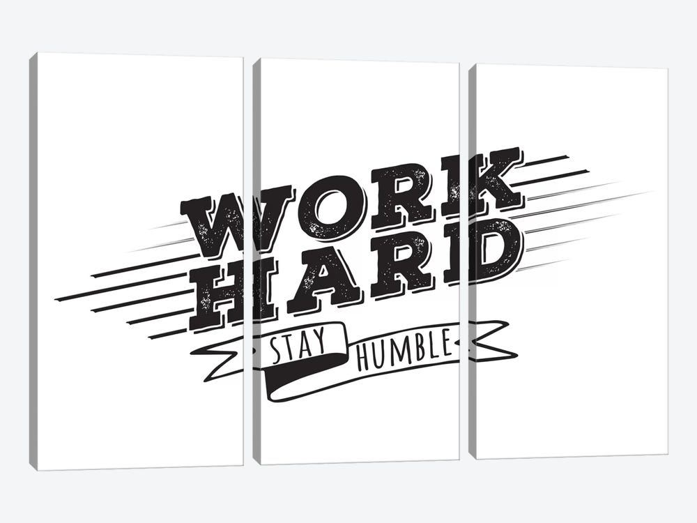 Work Hard I by 5by5collective 3-piece Canvas Wall Art