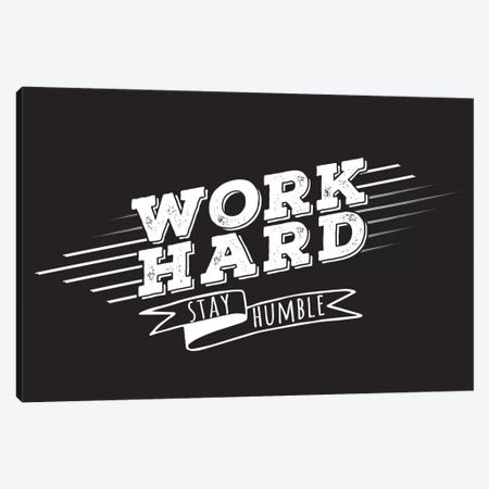 Work Hard II Canvas Print #BWQ45} by 5by5collective Canvas Print