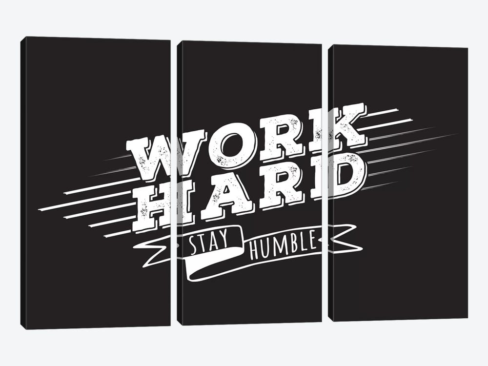 Work Hard II by 5by5collective 3-piece Art Print