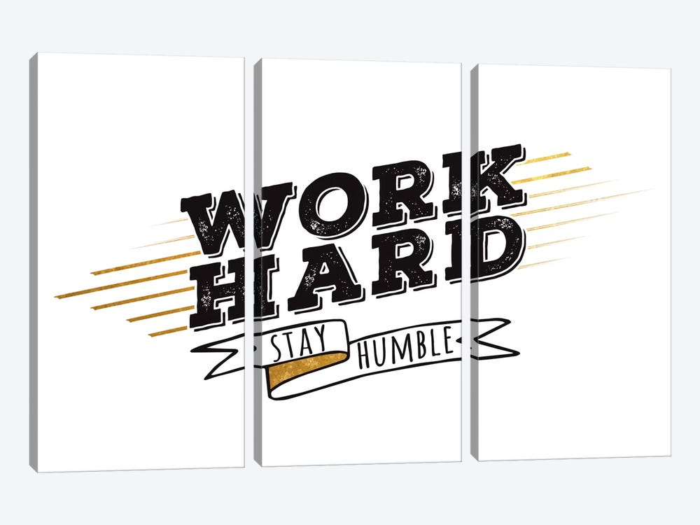 Work Hard III by 5by5collective 3-piece Canvas Art