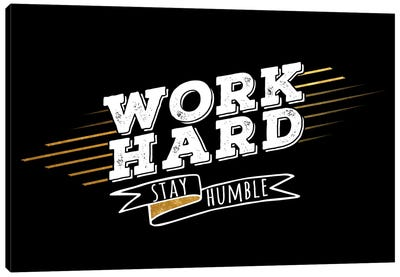 Work Hard IV Canvas Art Print