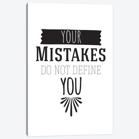 Your Mistakes I Canvas Print #BWQ48} by 5by5collective Canvas Artwork