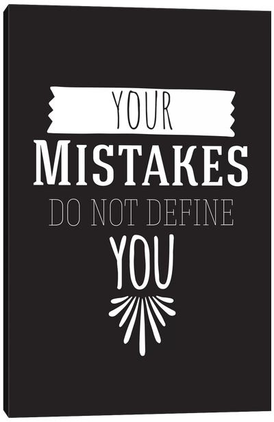 Your Mistakes II Canvas Art Print