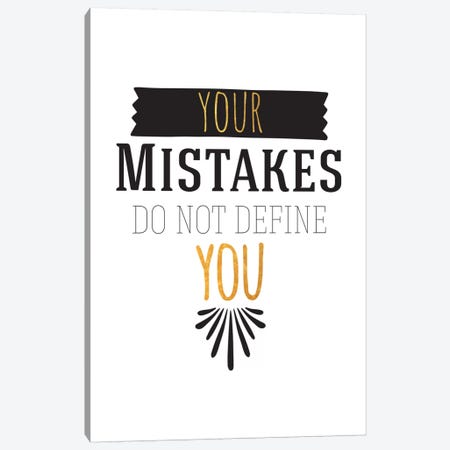Your Mistakes III Canvas Print #BWQ50} by 5by5collective Art Print