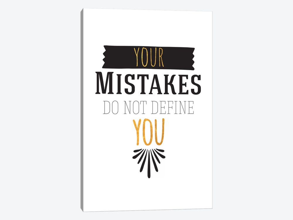 Your Mistakes III 1-piece Canvas Print