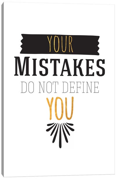 Your Mistakes III Canvas Art Print