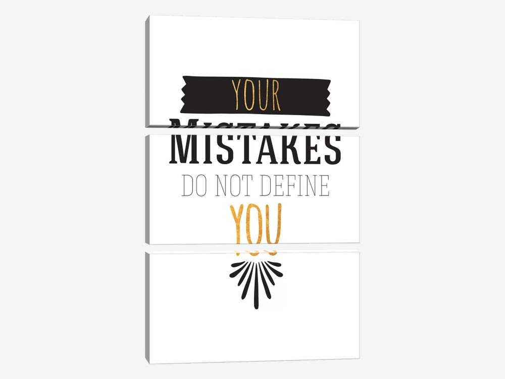 Your Mistakes III by 5by5collective 3-piece Art Print