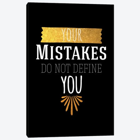 Your Mistakes IV Canvas Print #BWQ51} by 5by5collective Art Print