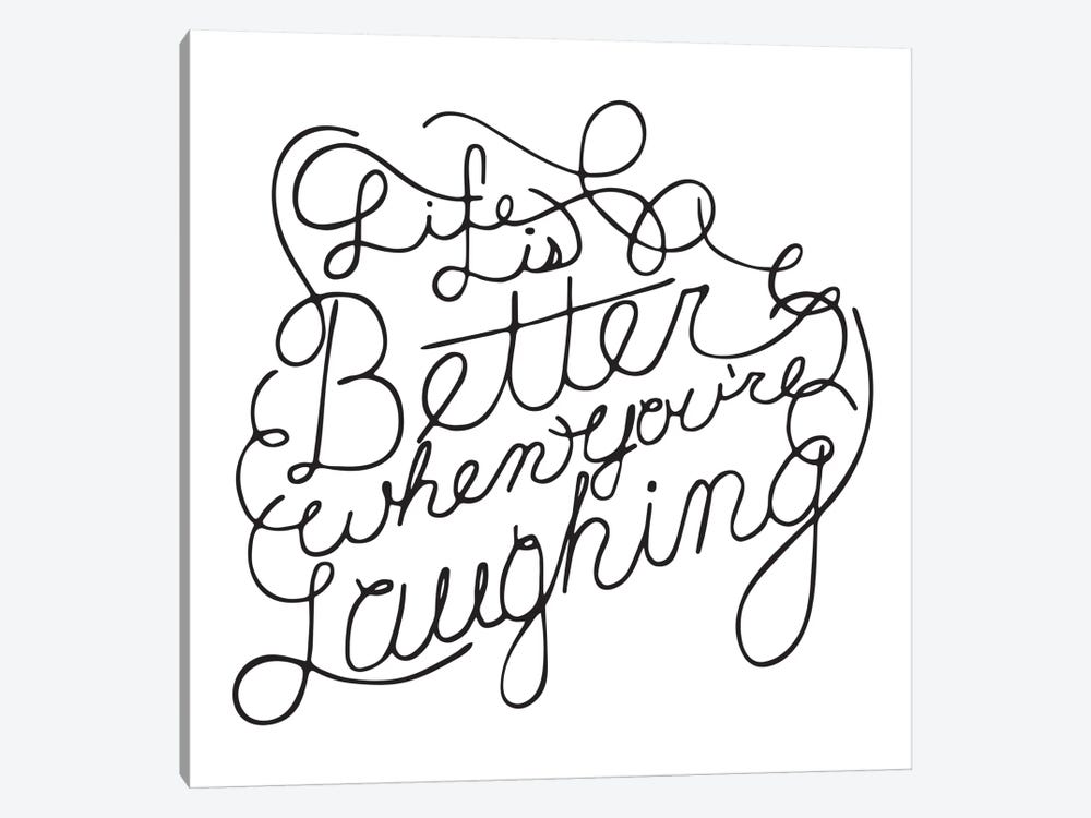 Life Is Better I by 5by5collective 1-piece Art Print