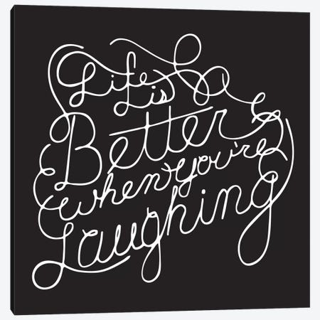 Life Is Better II Canvas Print #BWQ53} by 5by5collective Canvas Print