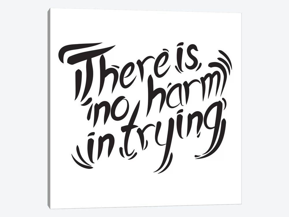 No Harm In Trying II by 5by5collective 1-piece Canvas Art