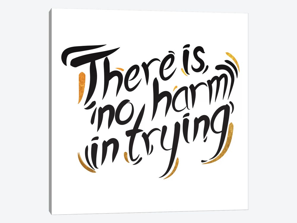No Harm In Trying III by 5by5collective 1-piece Canvas Art Print