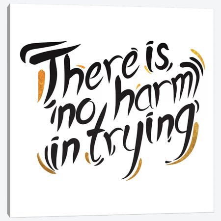 No Harm In Trying III Canvas Print #BWQ58} by 5by5collective Art Print