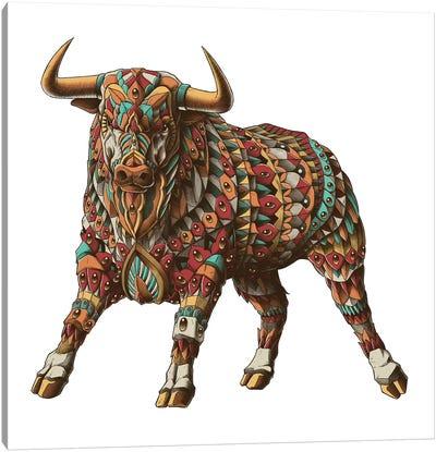 Raging Bull In Color I Canvas Art Print
