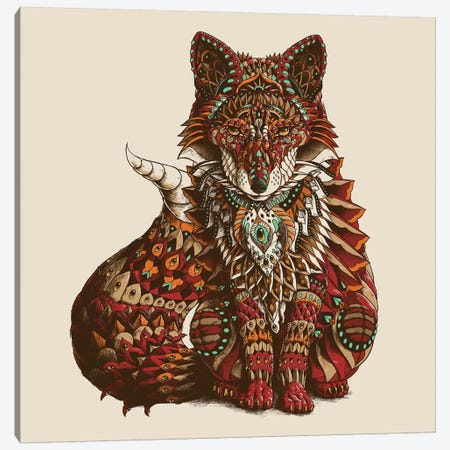 Red Fox In Color I Canvas Print #BWZ101} by Bioworkz Canvas Artwork