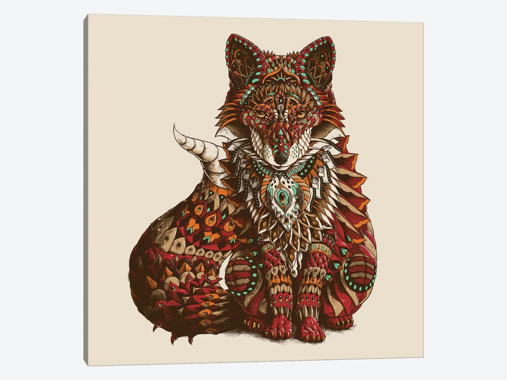 Red Fox In Color I by Bioworkz 1-piece Canvas Wall Art