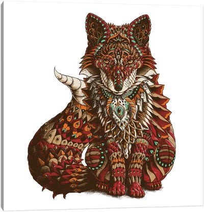 Red Fox In Color II Canvas Art Print