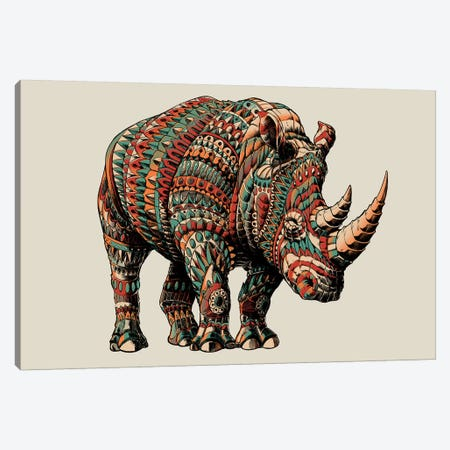 Rhino In Color I Canvas Print #BWZ103} by Bioworkz Canvas Wall Art