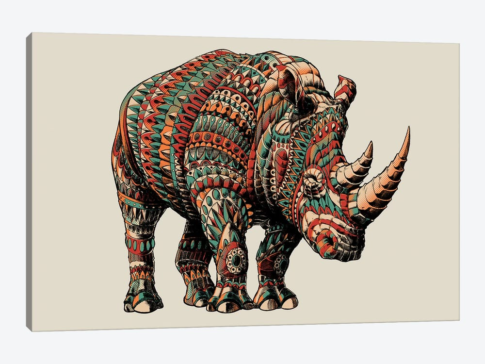 Rhino In Color I by BIOWORKZ 1-piece Canvas Artwork