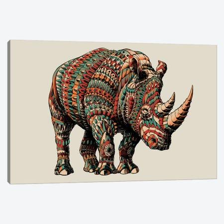 Rhino In Color I Canvas Print #BWZ103} by Bioworkz Canvas Wall Art