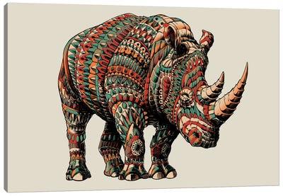 Rhino In Color I Canvas Art Print