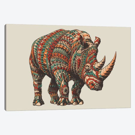 Rhino In Color II Canvas Print #BWZ104} by Bioworkz Canvas Print