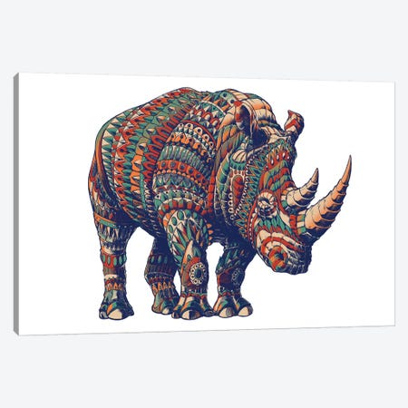 Rhino In Color III Canvas Print #BWZ105} by Bioworkz Canvas Print