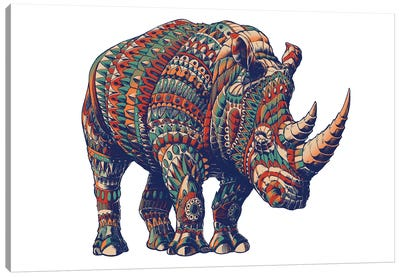 Rhino In Color III Canvas Art Print