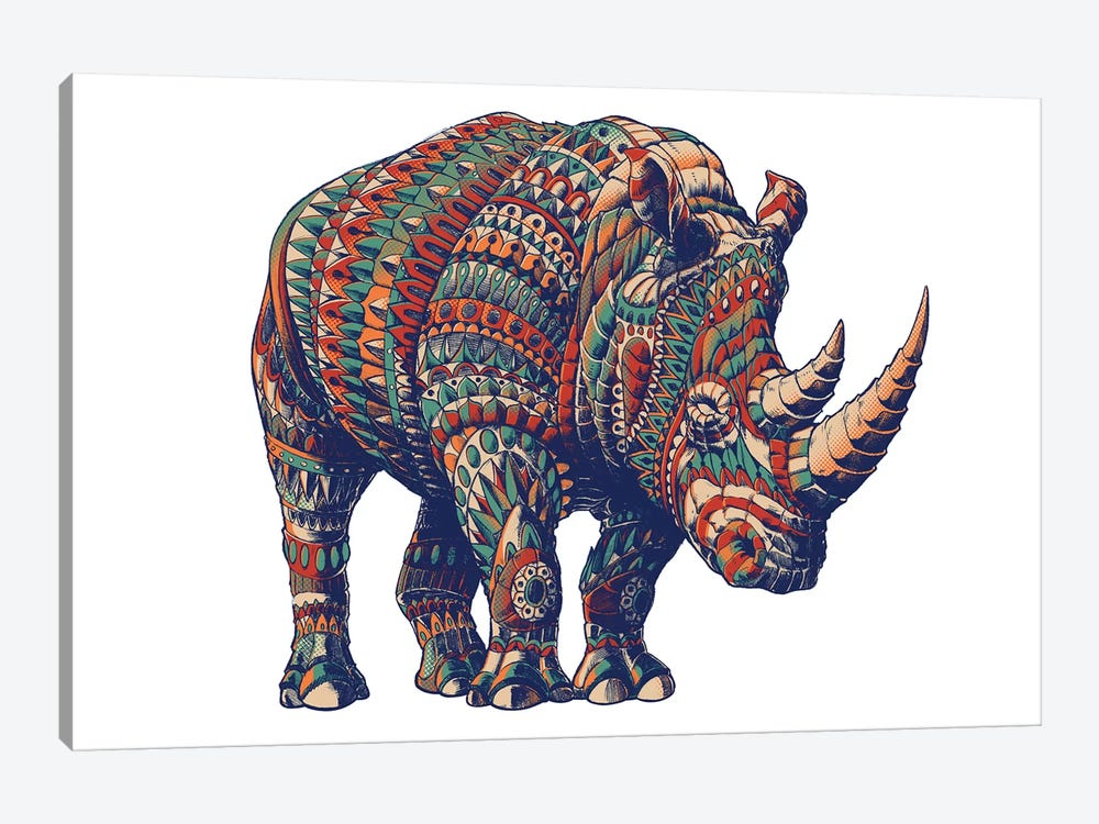 Rhino In Color III by Bioworkz 1-piece Canvas Artwork