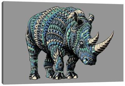 Rhino In Color IV Canvas Art Print