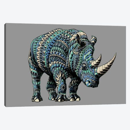 Rhino In Color IV Canvas Print #BWZ106} by Bioworkz Canvas Art Print