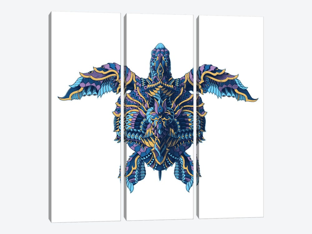 Seaturtle In Color I by BIOWORKZ 3-piece Canvas Print