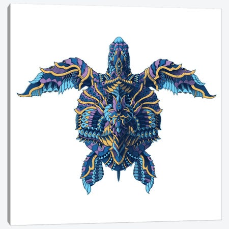 Seaturtle In Color I Canvas Print #BWZ108} by Bioworkz Canvas Art