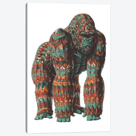 Silverback In Color I Canvas Print #BWZ109} by Bioworkz Canvas Artwork