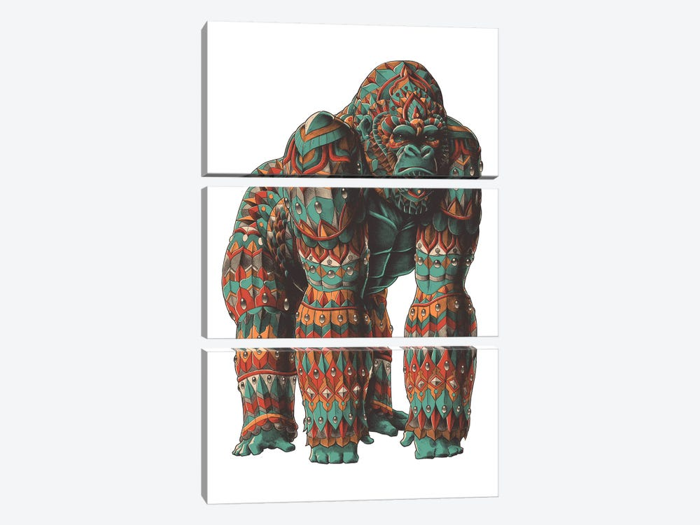 Silverback In Color I by Bioworkz 3-piece Canvas Art